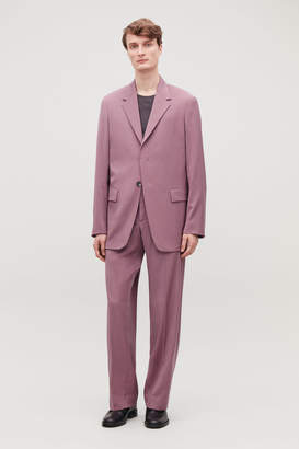 Cos RELAXED BLAZER WITH HIDDEN BUTTONS