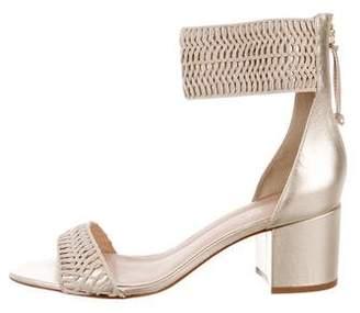 Rachel Zoe Metallic Woven Sandals
