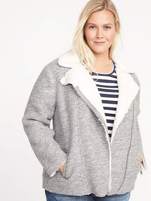 5916a052c86 Old Navy Sherpa-Lined Plus-Size Moto Jacket