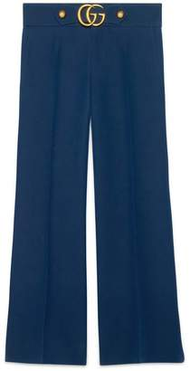 Gucci Wool-silk pant with Double G