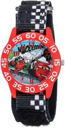 Disney Boy's 'Cars' Quartz Plastic and Nylon Casual Watch, Color: (Model: WDS000020)