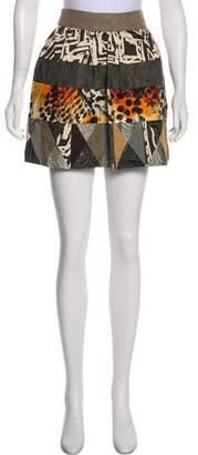 Diane von Furstenberg Patterned Mini Skirt