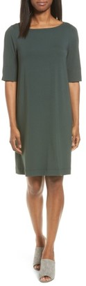 Women's Eileen Fisher Jersey Shift Dress $178 thestylecure.com