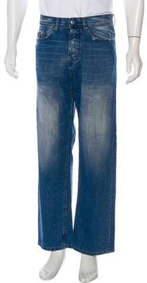 Paul Smith Distressed Straight-Leg Jeans