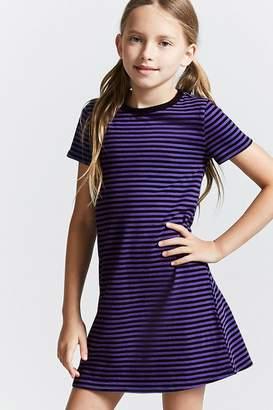 Forever 21 Girls Stripe Mini Dress (Kids)