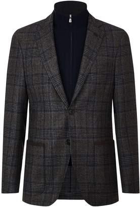 Corneliani Knit Insert Check Blazer