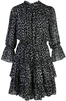 Michael Kors spot print tiered mini dress