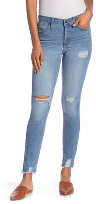 Madewell Distressed High Rise Skinny Jeans