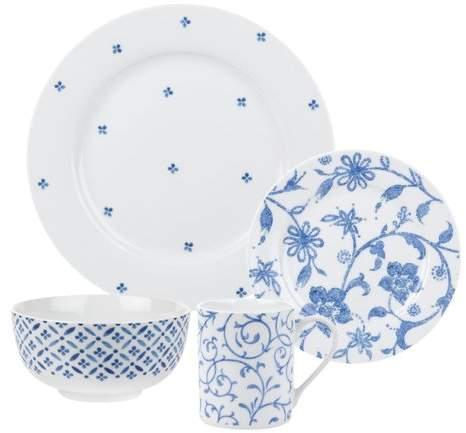 Spode Blue Indigo 16 Piece Dinnerware Set, Service for 4
