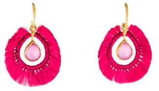 Katerina Makriyianni Quartz Doublet Mini Light Pink Drop Earrings