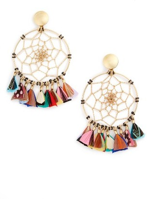 Women's Gas Bijoux Feather Earrings $320 thestylecure.com