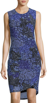 T Tahari Floral-Print Side-Ruched Dress $89 thestylecure.com