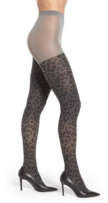Capelli of New York 80 Denier Opaque Leopard Tights