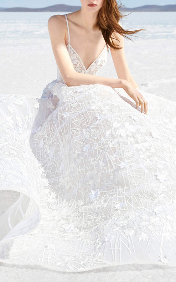 Alex Perry Bride Tatum Embellished Gown