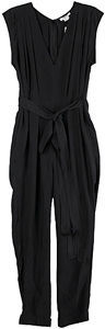 Helmut Lang Willowed Silk Jumpsuit