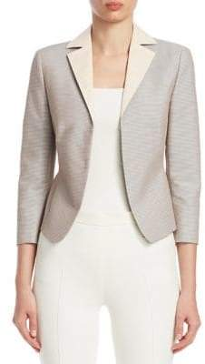 Akris Punto Striped Peplum Blazer