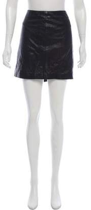 MICHAEL Michael Kors Leather Lace-Up Skirt
