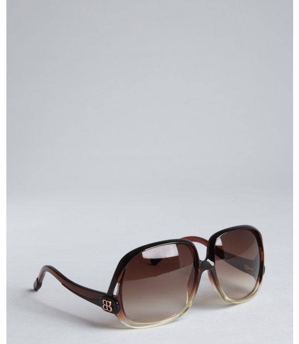 Balenciaga brown ombre acrylic oversized sunglasses