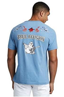 True Religion Men's Floral Buddha Tee