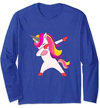 Dabbing Unicorn Long Sleeve Shirt