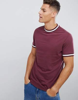Asos DESIGN T-Shirt With Contrast Tipping