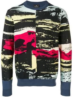 Paul Smith contrast print jumper