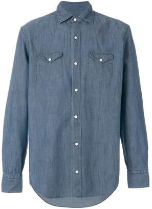 Eleventy long sleeved denim shirt