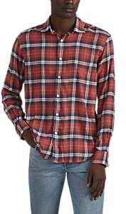 Hartford Men's Plaid Flannel Shirt - Red Pat.