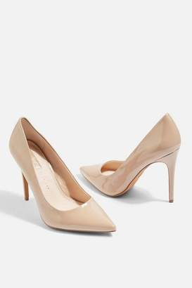 Topshop **Wide fit Grammer Heel Court Shoes