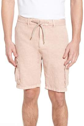 Scotch & Soda Garment Dyed Linen Cargo Short