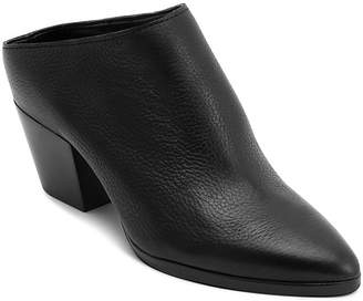 Dolce Vita Women's Roya Almond Toe Leather Mid-Heel Mules