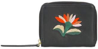 Lizzie Fortunato embroidered flower zip purse