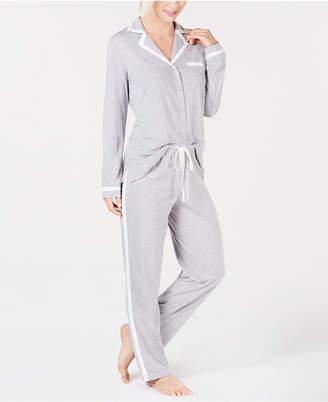 c828a953ab6c Alfani Pima Cotton Long Sleeve Top & Pajama Pants Set, Created for Macy's