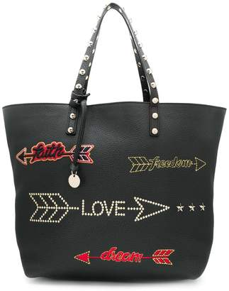 60858cd90c RED Valentino RED(V) arrow embroidered tote bag