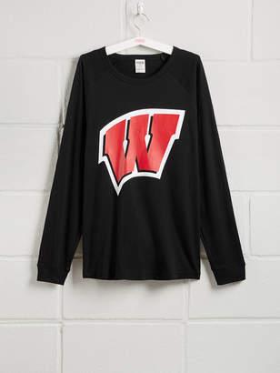 PINK University of Wisconsin Long Sleeve Grommet Campus Tee