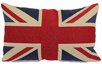 Brentwood Originals 8377 Union Jack Tapestry Toss Pillow