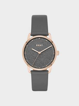 DKNY Greenpoint 36mm Rose Gold-Tone Stainless-Steel Watch With Leather Strap