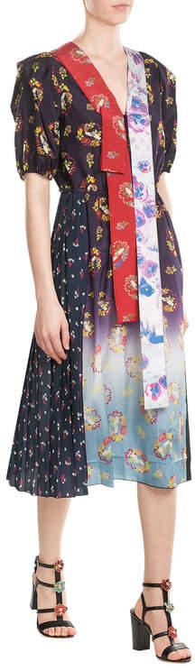 Marc JacobsMarc Jacobs Printed Cotton Blend Dress
