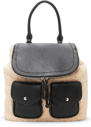 Sole Society Drury Faux Shearling & Faux Leather Backpack