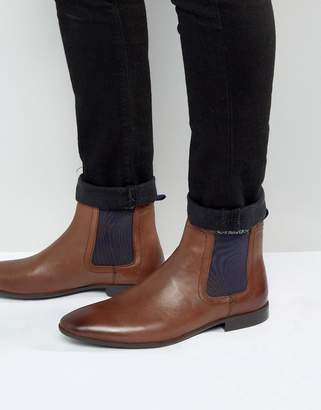 Asos Design Chelsea Boots in Brown Leather