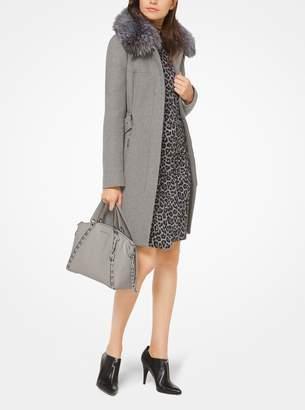 MICHAEL Michael Kors Fur-Trimmed Wool Coat