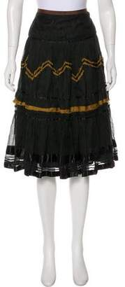 Easton Pearson Patterned Knee-Length Skirt