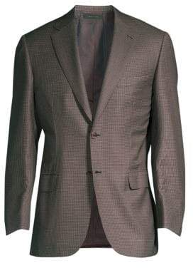 Brioni Virgin Wool& Silk Check Jacket