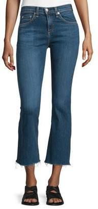 rag & bone/JEAN Mid-Rise Cropped Flare-Leg Jeans, Paz $195 thestylecure.com