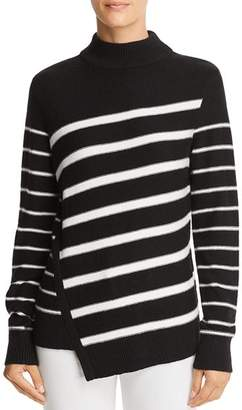 Aqua Asymmetric Striped Sweater - 100% Exclusive
