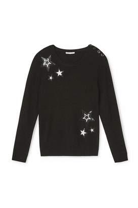 Rebecca Minkoff Sequin Star Sweater $198 thestylecure.com
