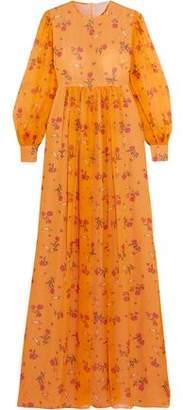Emilia Wickstead Pia Floral-Print Silk-Georgette Gown