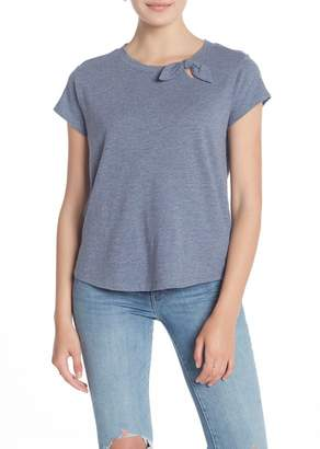 Susina Short Sleeve Tied Bow T-Shirt (Regular & Petite)