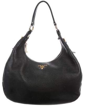 ffb4dee23e78 ... coupon code pre owned at therealreal prada vitello daino hobo ea740  2aee2