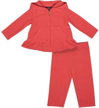 Juicy Couture 100% Juicy Ruffled Microterry Track Set For Baby